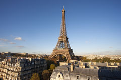 Elevated view of the Eiffel Tower. During the day, Paris, France Royalty Free Stock Image