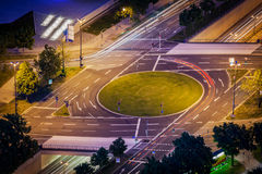 Elevated view of German road junction. Munich, Bavaria, Germany, Stock Photos