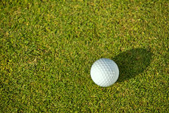 Elevated view of golf ball on grass Stock Photography