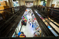 Elevated view of the ground floor shopping mall at Chungking Mansions, Hong Kong Royalty Free Stock Photos