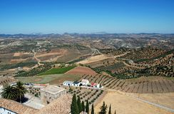 Spanish countryside, Olvera, Andalusia. Stock Image