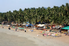 Elevated view idyllic Goa beach Royalty Free Stock Photography