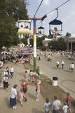 Elevated view of Iowa State Fair, Stock Images