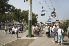 Elevated view of Iowa State Fair Royalty Free Stock Images