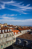 Elevated view of Lisbon stock photography