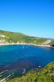 Elevated view of Lulworth Cove. Royalty Free Stock Photos
