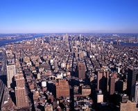 Elevated view of Manhattan, New York. Royalty Free Stock Photos