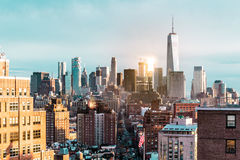 Elevated view of Manhattan, New York City Royalty Free Stock Photo