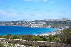 Elevated view of Mellieha, Malta. Royalty Free Stock Photo