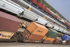 Free Elevated View Of Freight Cars Royalty Free Stock Images - 27075239