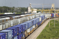 Free Elevated View Of Freight Cars Stock Photos - 27075263