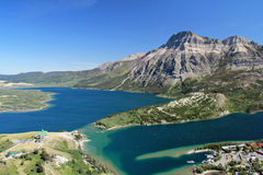 Elevated View Of Waterton And Lakes, Alberta Royalty Free Stock Photography