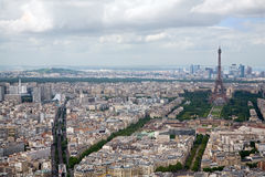 Elevated View of Paris, France Royalty Free Stock Image