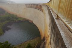 Elevated view of Pongolapoort dam South Africa Royalty Free Stock Photography