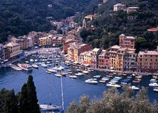 Elevated view of Portofino. Stock Images