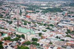 Elevated View of Quebec City, Canada Stock Photography