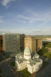 Elevated view of Saint Louis Historical Old Courthouse, Federal Style architecture built in 1826 and site of Dred Scott slave deci Stock Images