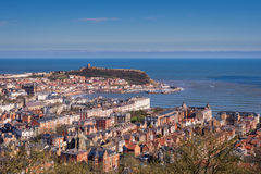 Elevated View of Scarborough royalty free stock photo