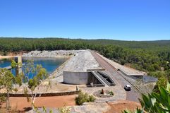Elevated View of Serpentine Dam Royalty Free Stock Image