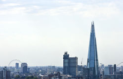 Elevated view of The Shard and London Eye, London Stock Image