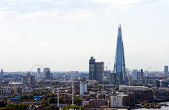 Elevated view of The Shard and London Eye, London Stock Photo