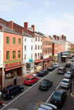 Elevated view of storefronts on Market Street, Stock Photo