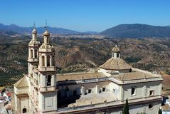 Church, Olvera, Andalusia, Spain. Royalty Free Stock Photography