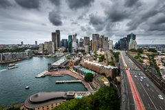 Elevated view of the Sydney Opera House stock photography