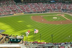 An elevated view of the third Busch Stadium, St. Louis, Missouri, where the Pittsburgh Pirates beat the 2006 World Series Champion Royalty Free Stock Image