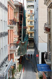 Elevated view of typical street in central Athens, Greece Royalty Free Stock Photography