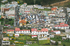 Elevated view of Zumbahua Stock Images