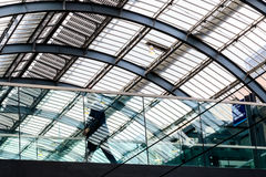 Elevated walkway and Ceiling at Kings Cross Station Royalty Free Stock Photos