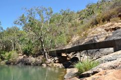 Elevated Walkway at Serpentine Falls Stock Photography