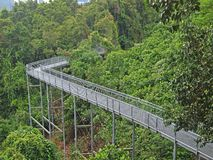 Elevated Walkway, Singapore. Elevated Walkway at the Southern Ridges linking Mt Faber, Telok Blangah Hill and Kent Ridge in Singapore Stock Photography