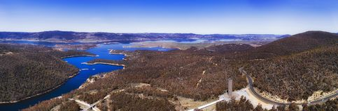 D SM Jindabyne Lake Lookout pan Stock Photo