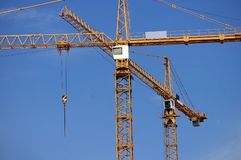 Elevating Construction Crane Royalty Free Stock Images