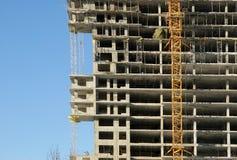 Elevating construction crane Stock Photography
