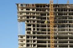 Elevating construction crane Royalty Free Stock Image