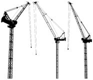 Elevating Construction Crane Vector 02. Elevating Construction Crane Isolated Illustration Vector Royalty Free Stock Photography