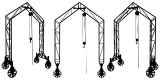 Elevating Construction Crane Vector 03. Elevating Construction Crane Isolated Illustration Vector Royalty Free Stock Images