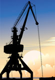 Elevating crane Stock Photography