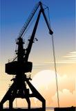 Elevating crane. Vector decorative illustration for graphic design Stock Photography
