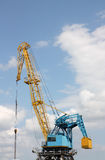 The elevating crane Stock Photography