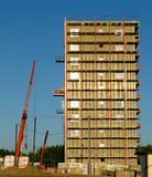 The elevating crane. And building Stock Photo