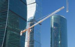 Elevating crane Stock Images