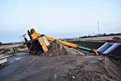 Free Elevating Crane Lying On Its Side Royalty Free Stock Photos - 79214348