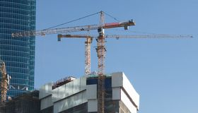 Elevating cranes Stock Photography
