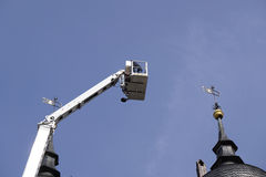 Elevating platform crane Royalty Free Stock Photos