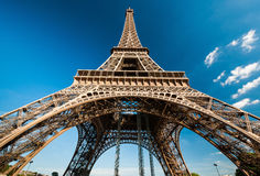 Elevation angle of The eiffel Stock Image
