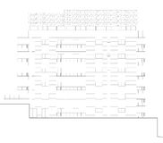 Elevation blueprint. Detailed architectural plan of a typical floor of a residential building Stock Photos